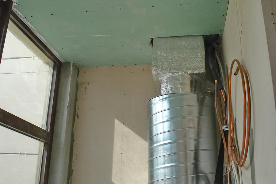 air ventilation with tool in the corner